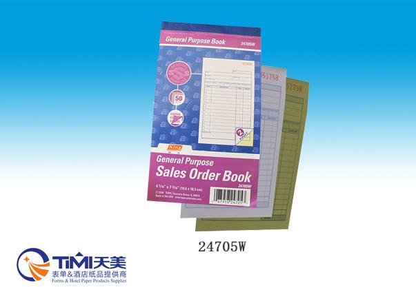 24705W-Sales Order Book