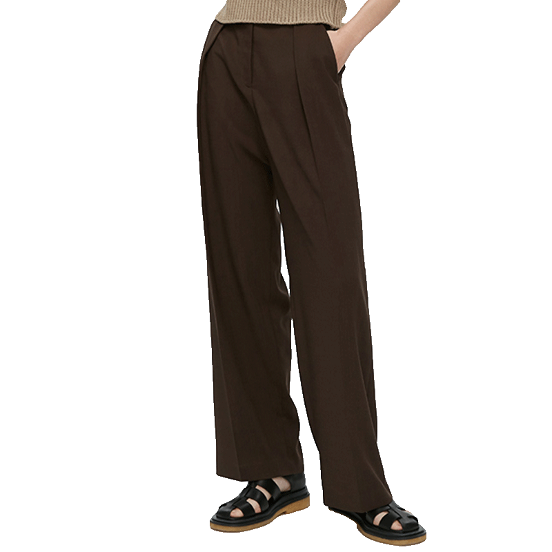 New Arrival For Women Solid Pants Plus Size Loose Lady Summer Trouser Pocket Zipper Pleated Straight