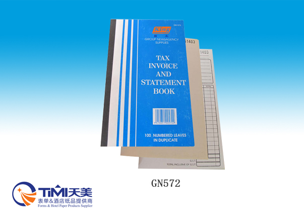 GN572-Tax Invoice Statement Book
