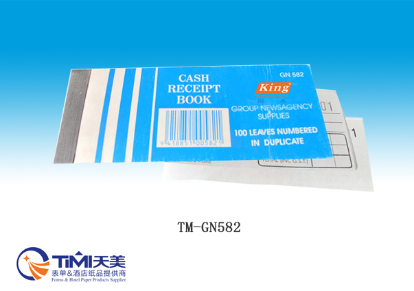 GN582-Cash receipt book
