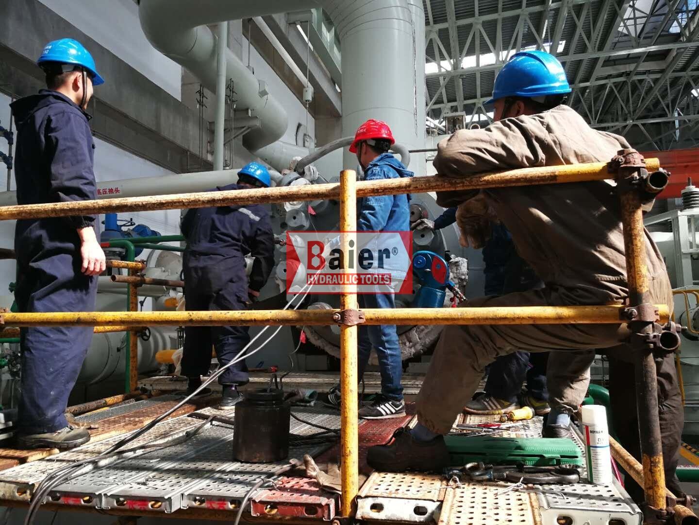 华能集团某电厂采购80000Nm液压扳手用于主设备抢修