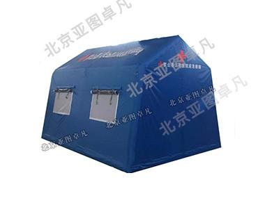 蓝色应急救援充气帐篷