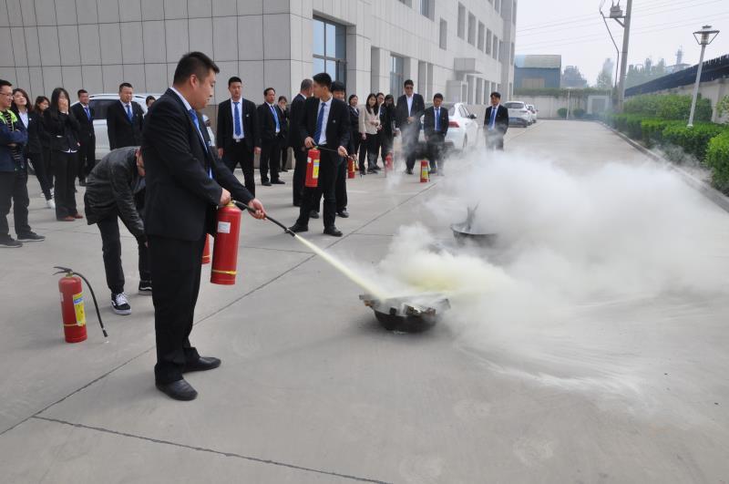政安消防为九达建工集团开展消防安全培训