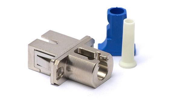 SC-LC Hybrid Simplex adapter-Metal SC footprint