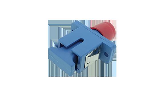 FC-SC Hybrid Simplex adapter Plastic  SC foot print