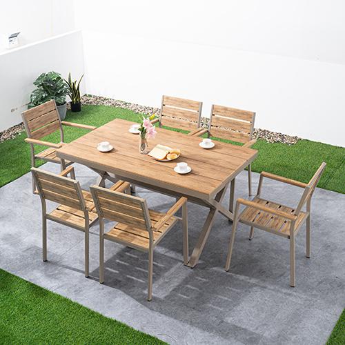 Plastic wood table set / Пластиковый деревянный набор стола