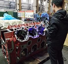 发动机缸体三维检测