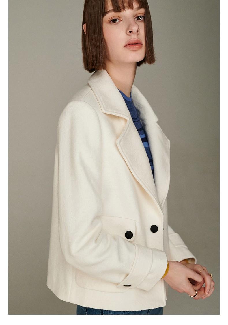 2021 Simple Slim Solid Long Sleeve Women Coat Jacket Autumn Winter Wool Casual Lady Formal Style Fur