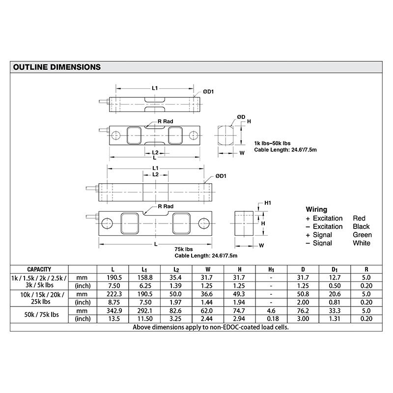 DSR双剪切梁传感器(型号:DSR)
