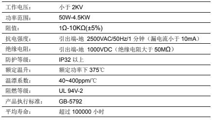 TTSF 铝壳电阻器