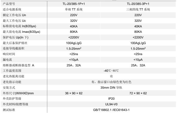 TT 系统交流电源 SPD(80KA)