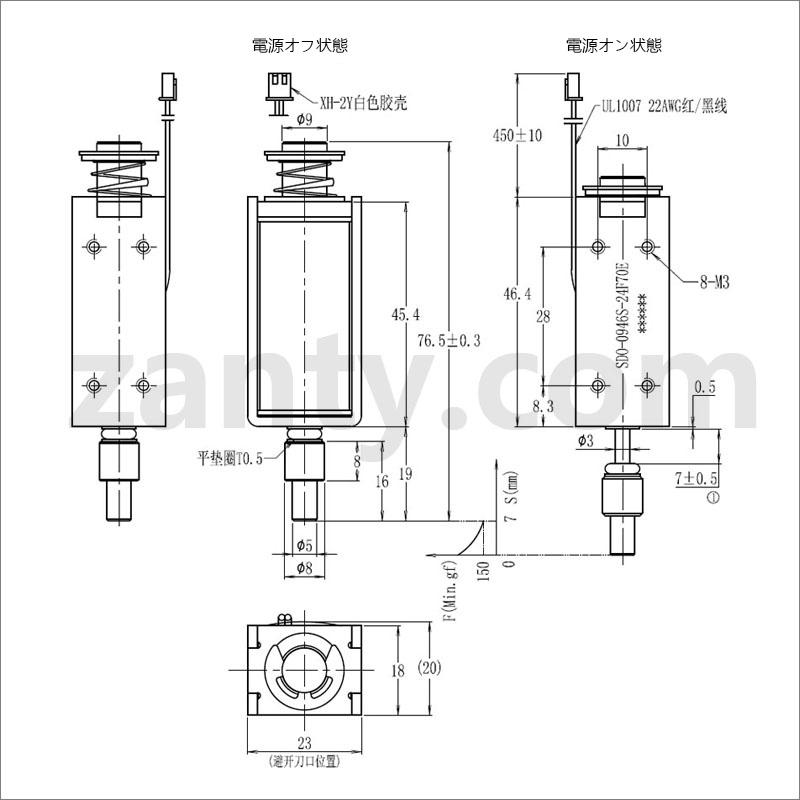 SDO-0946Sソレノイド チップマシンに適用