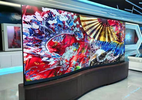 55-inch LG Flexible Curved Splicing screen55寸LG柔性曲面拼接屏