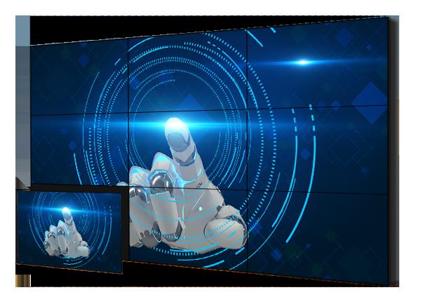 LG49寸超窄边DID液晶拼接屏,49寸1.8MM高亮DID拼接屏    型号: NZ49015-L1