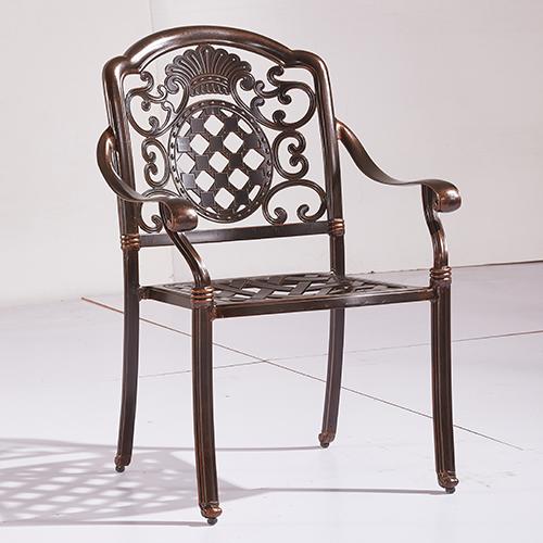 Cast aluminum chair / Литое алюминиевое кресло