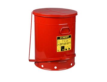 Justrite 油渍废品罐;21加仑