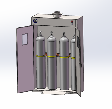 室内LGI-NF 系列经济型气瓶安全存储柜
