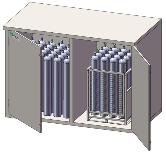 室外LGV-10 保温防爆系列气瓶安全存储箱