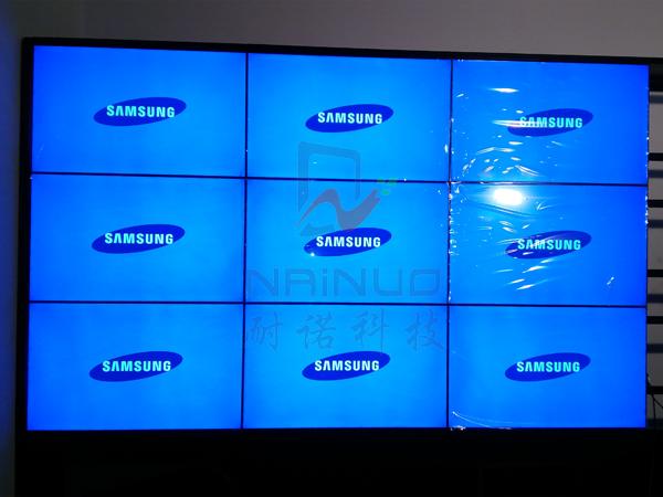 湖北武汉瀛谷电子3×3液晶拼接监控显示大屏幕墙项目