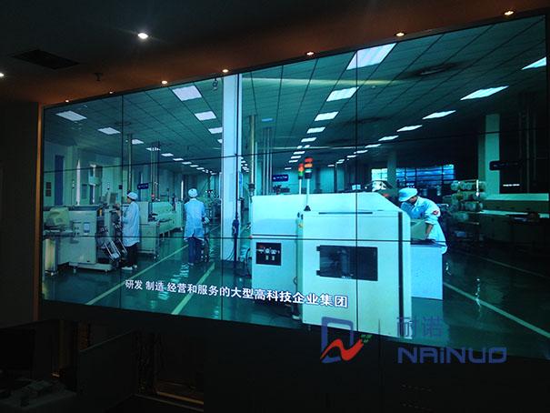 四川成都九州北斗科技公司34液晶拼接大屏幕展示墙项目