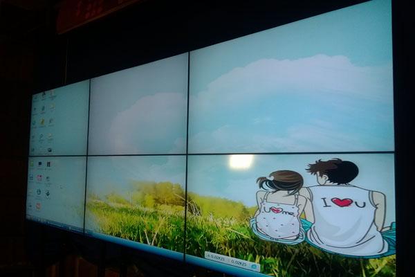 四川省攀枝花盐边电视台播报中心液晶拼接电视墙项目