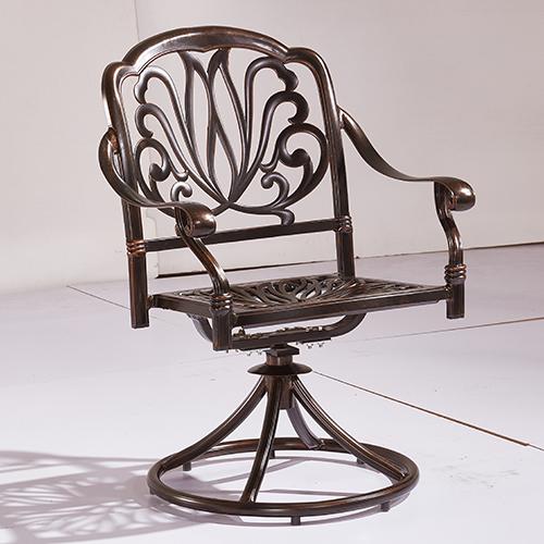 Cast aluminum swivel chair / Литое алюминиевое поворотное кресло