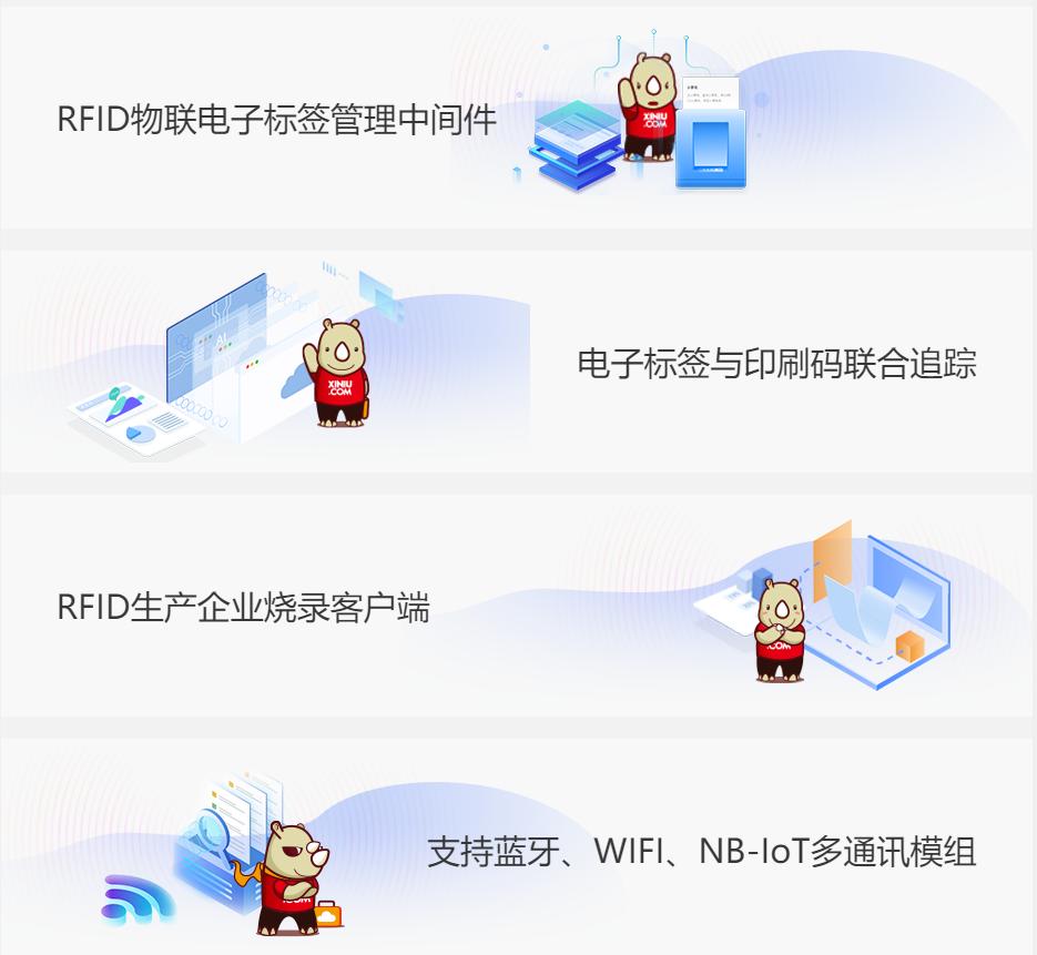 犀牛云RFID智能标签管理软件,一体化的物联智能标签数字化解决方案