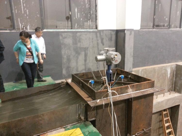 消能阀模型振动噪声试验现场