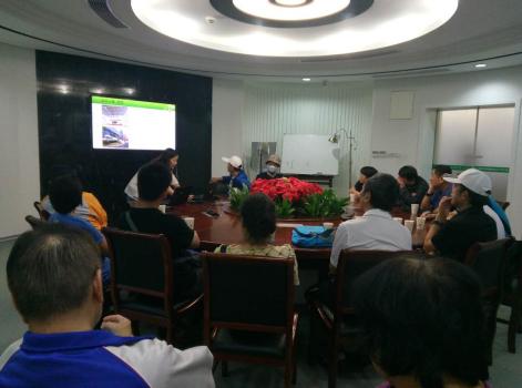 海峡两岸乒乓球邀请赛代表成员参观万博足彩app光电