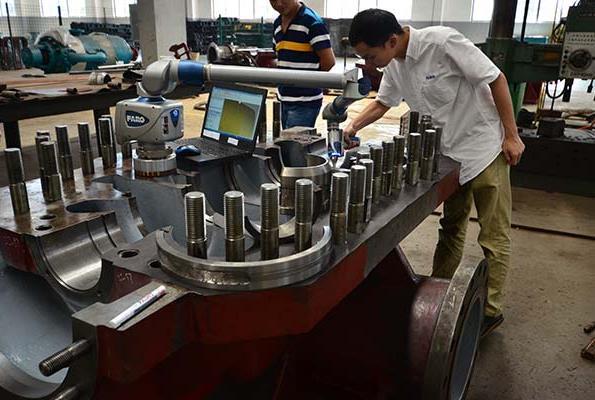 多级泵三坐标检测