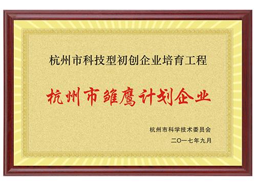 """杭州市""""雏鹰计划""""企业"""