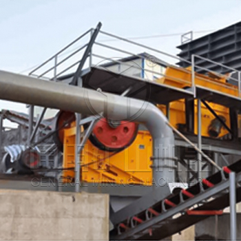 200 t/h basalt crushing production line in India