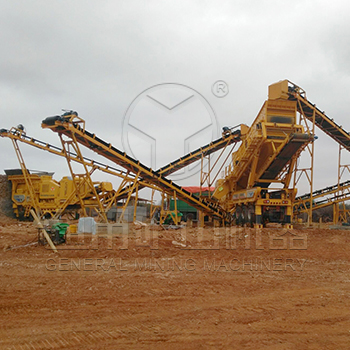 100CBM/hour River Pebbles Mobile Crushing Line In Nanyang,Henan province