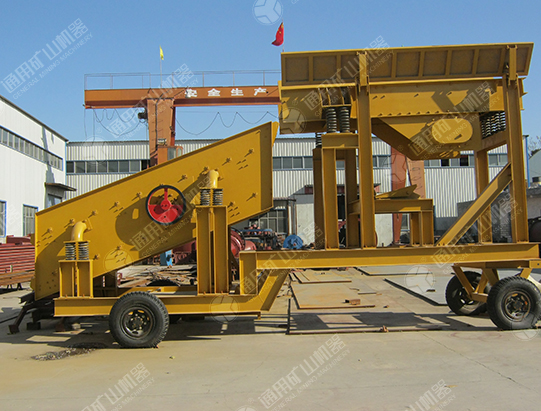 100-200 t/h mobile sand screening system in Nepal