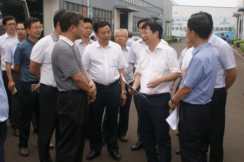 长沙市市长胡衡华一行调研我司——做工作指导