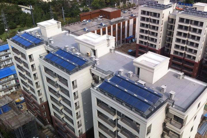 高层/小高层住宅太阳能热水系统