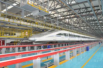 铁路动车组检修作业平台