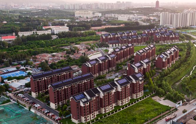 豐臺區辛莊回遷安置房一期項目無動力太陽能