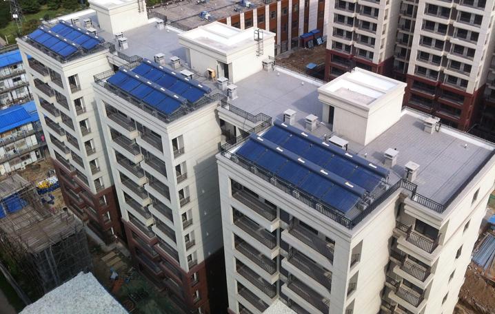 电力公司建设八里庄公租房太阳能热水系统