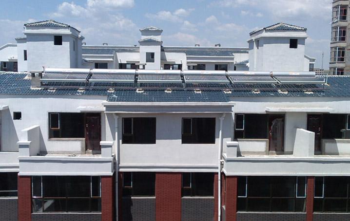 内蒙古锦绣龙城小区太阳能热水系统