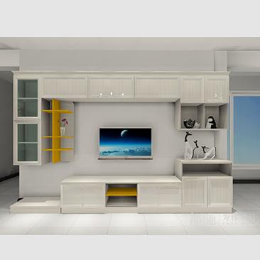 現代簡約客廳餐廳電視櫃效果圖