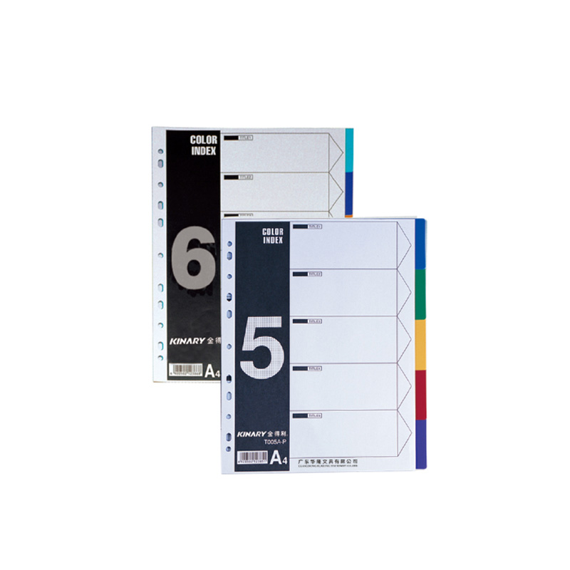 High Quality PP colored subject divider