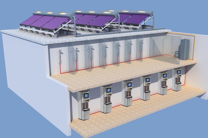 太阳能开水系统