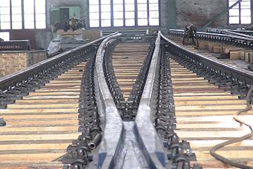 出口委内瑞拉60kgm钢轨14号单开道岔