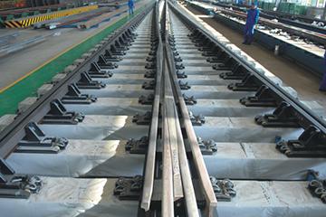 重载道岔75kg每m钢轨18号可动心轨辙叉单开道岔