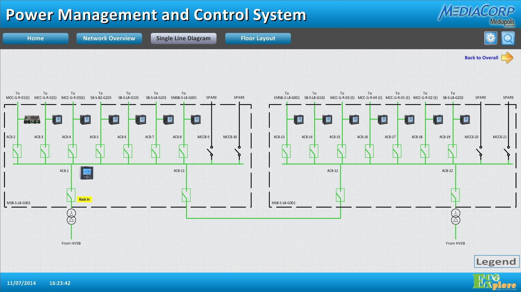 Energy Management System for a Media Complex in Singapore
