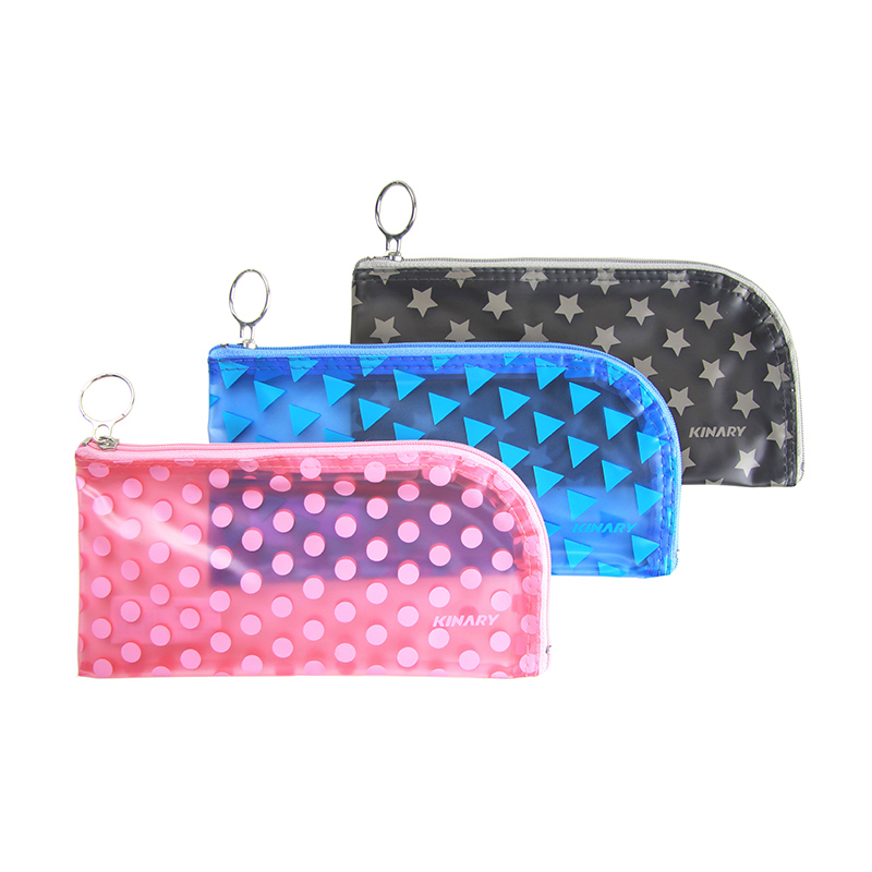 SILK SCREEN PVC ZIPPER BAG