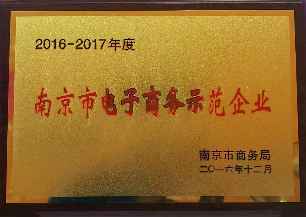 南京市电子商务示范企业