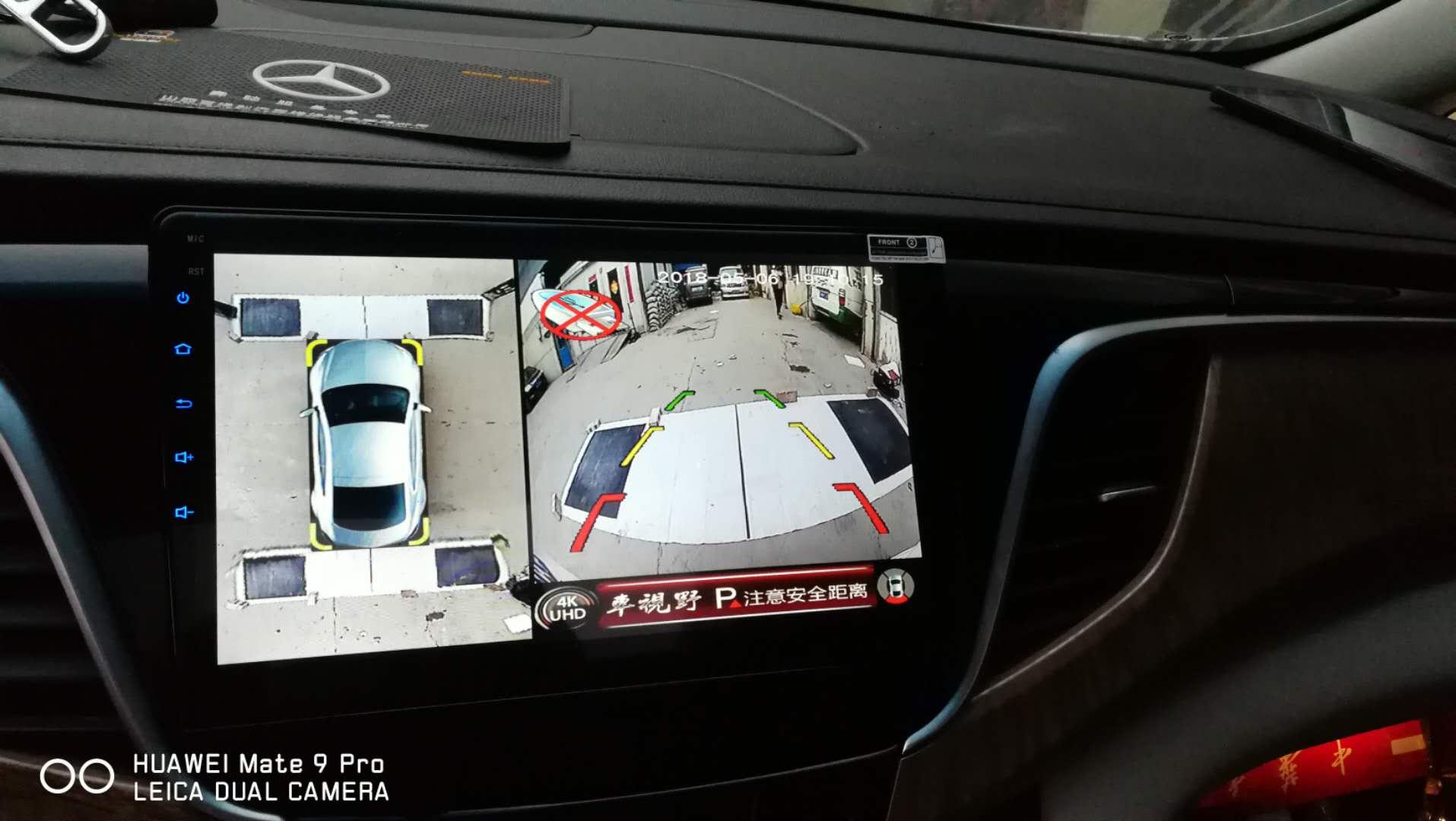 别克GL8安装车视野全景行车记录仪
