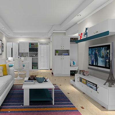 现代简约客厅电视柜餐边柜效果图